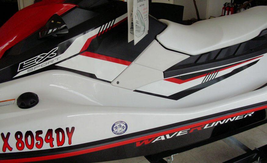 2018 Yamaha Wave Runner EX Sport PWC Jet Ski Red-Blk-Wht - Fred Pilkilton Motors in Denison Texas
