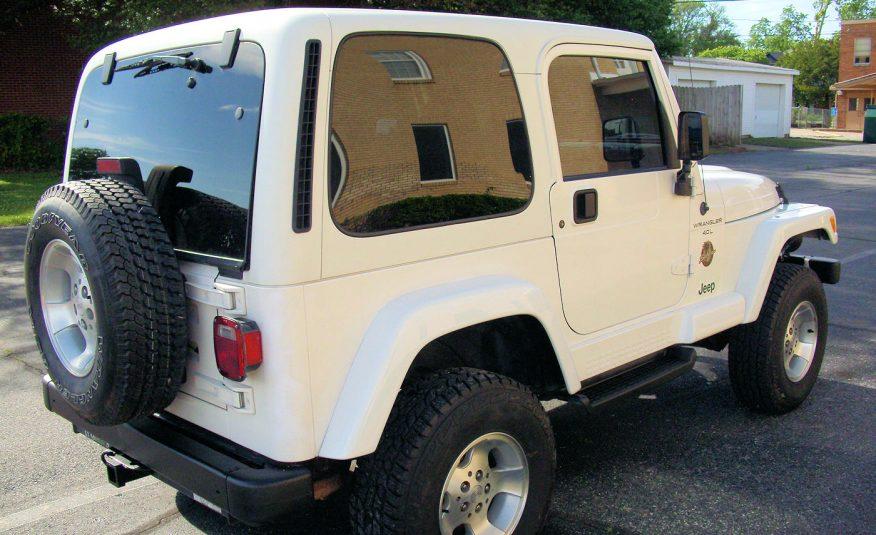 2000 Jeep Wrangler Sahara 4X4 White - Fred Pilkilton Motors in Denison Texas